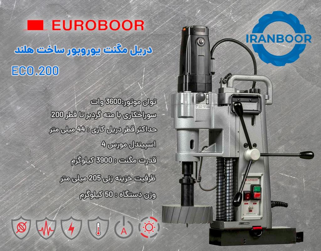 دریل مگنت یوروبور 200